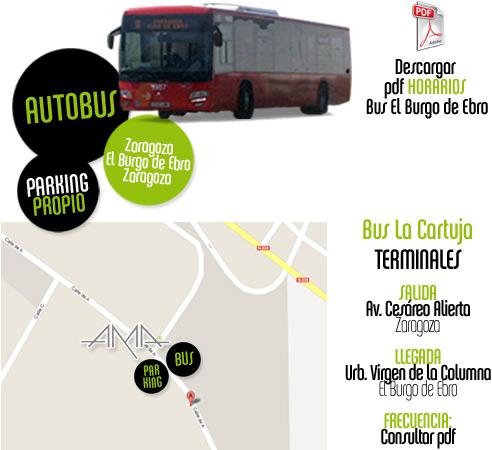 Pdf con horarios de autobuses a El Burgo de Ebro